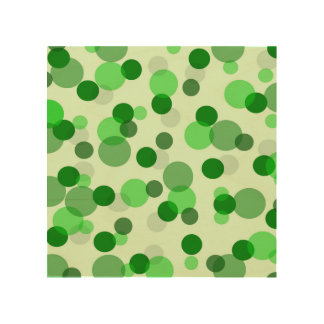 Transparent Green Dots Pattern Wood Wall Decor