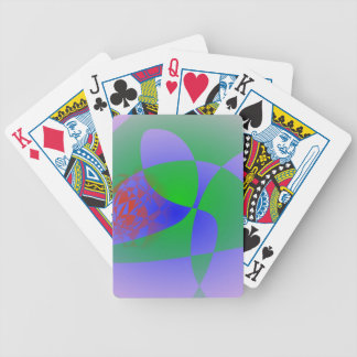 Transparent Green on Lavender Background Playing Cards