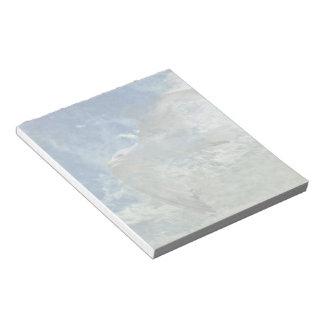 Transparent Gull and Clouds Modern Art Design Notepad