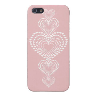 Transparent hearts <3 iPhone SE/5/5s cover