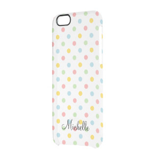 Transparent iPhone 6 case with colorful polkadots Uncommon Clearly™ Deflector iPhone 6 Case