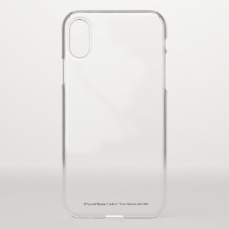 Transparent iPhone Case with Custom ID Information