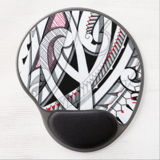 Transparent layered maori tattoo patterns with gel mouse pad