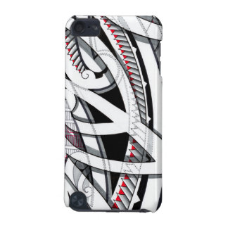 Transparent layered maori tattoo patterns with iPod touch (5th generation) cover