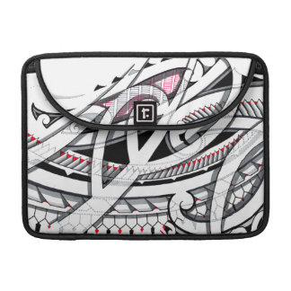 Transparent layered maori tattoo patterns with sleeve for MacBooks