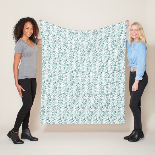 Transparent leaves and branches  fleece blanket