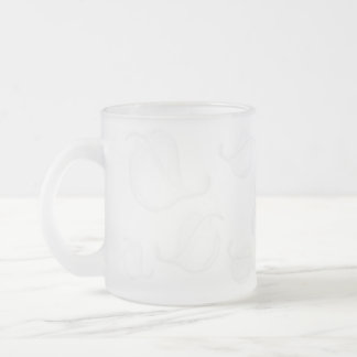 Transparent Leaves Relief Frosted Mug