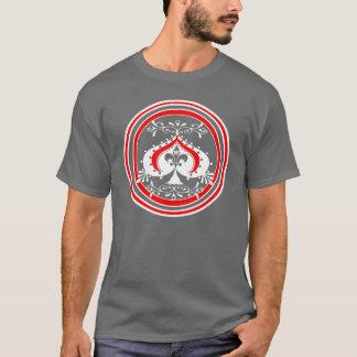 Transparent Ornate Spade Design T-Shirt