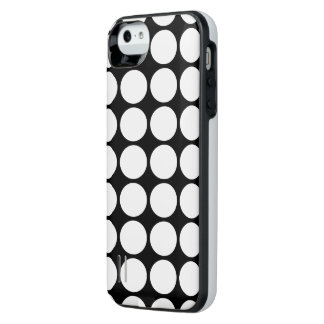 Transparent Polka Dots on Black iPhone SE/5/5s Battery Case