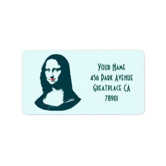 Transparent Pop Art Mona Lisa Address Lable Label