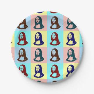 Transparent Pop Art Mona Lisa Paper Plate
