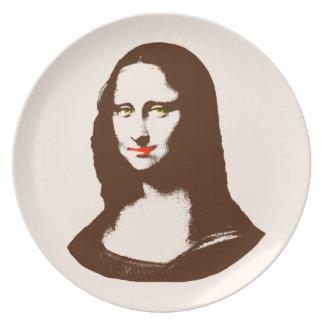 Transparent Pop Art Mona Lisa Plate