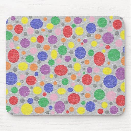 Transparent Rainbow Bubbles Mousepad
