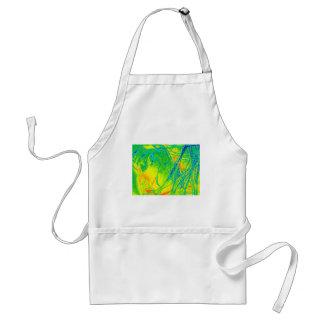 transparent rainbow fabric adult apron