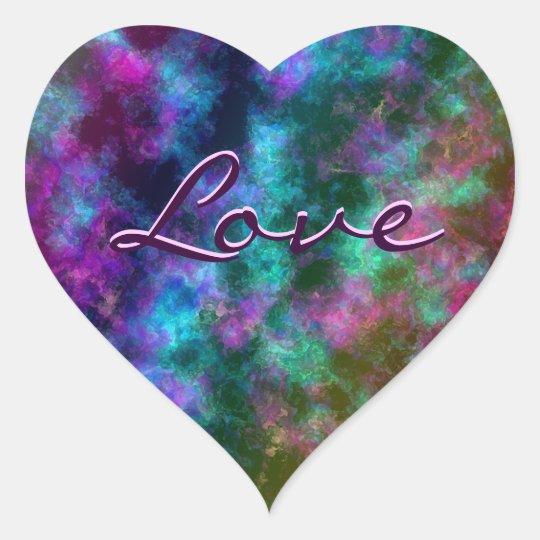 Transparent Rainbow: Flourite Effect Heart Sticker