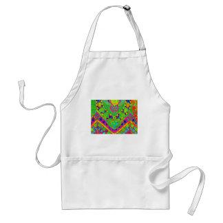 transparent rainbow mosaic adult apron