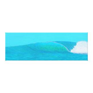 Transparent roofer wave canvas print
