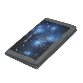 Transparent Sagittarius Tri-fold Wallet
