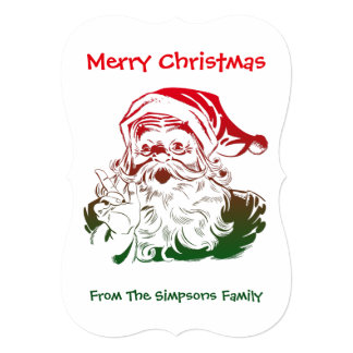 Transparent Santa Christmas Greeting Or Invitation