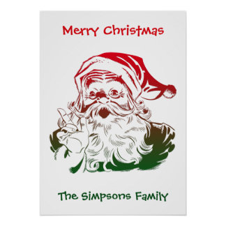 Transparent Santa Christmas Poster