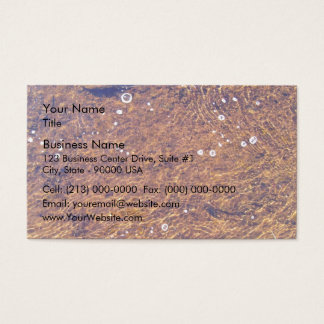 Transparent sea water business card