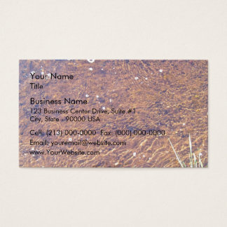 Transparent sea water ripple on the beach texture business card