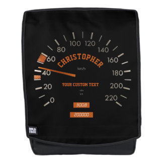 Transparent Speedometer on Dashboard Backpack