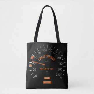 Transparent Speedometer on Dashboard Tote Bag