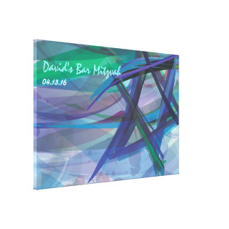 TRANSPARENT STAR Bat Bar Mitzvah Sign-In Board Canvas Print