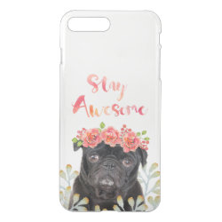 Uncommon iPhone 7 Plus Clearly™ Deflector Case with Pug Phone Cases design
