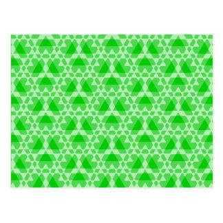 Transparent Tessellation 3 A  Lg Any Color Postcar Postcard