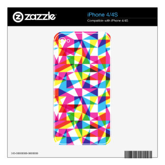 Transparent triangles pattern skin for iPhone 4S