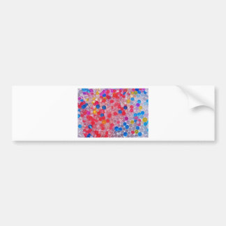 transparent water balls bumper sticker