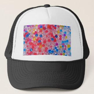 transparent water balls trucker hat