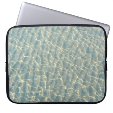 Beach Themed Transparent water computer sleeve