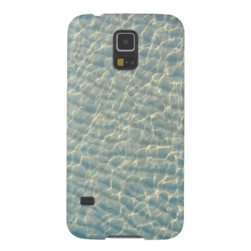 Beach Themed Transparent water galaxy s5 cover