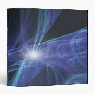Transparent Waves 3 Ring Binder