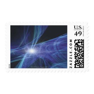 Transparent Waves Postage Stamp