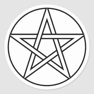 Transparent White Pentacle Stickers