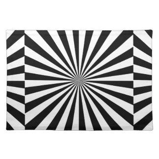 ~ transparente de los RAYOS (un diseño negro y Manteles