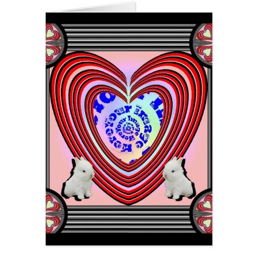 Transparente grande del marco del corazón de los c tarjeta de felicitación