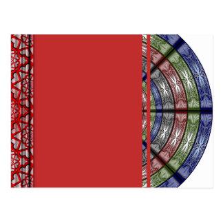 Transparente redondo grande del RGB de la polilla Postales