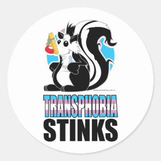 Transphobia Stinks Classic Round Sticker