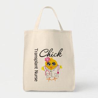 Transplant Nurse Chick v2 Tote Bags