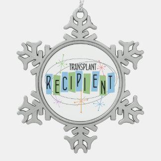 Transplant Recipient Snowflake Pewter Christmas Ornament