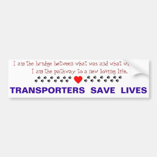 Transport Bumper Sticker Car Bumper Sticker