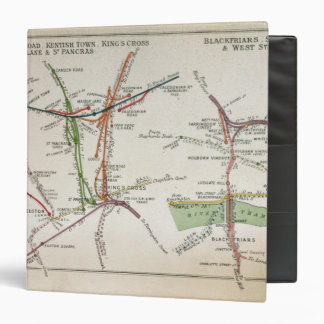 Transport map of London, c.1915 Binder