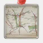 Transport map of London, c.1915 Metal Ornament