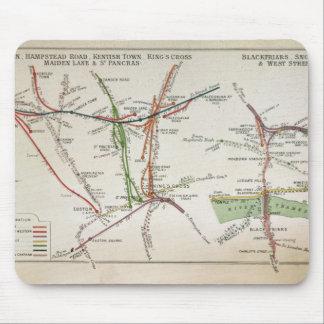 Transport map of London, c.1915 Mousepads