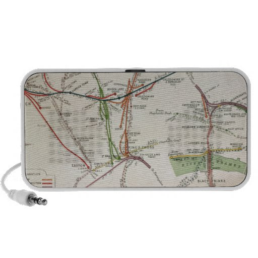 Transport map of London, c.1915 Travelling Speakers